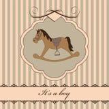Born card Royalty Free Stock Photo