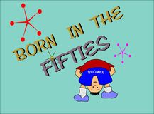 Born in the fifties Royalty Free Stock Image