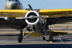 Boeing round engine high wing airplane Royalty Free Stock Photography