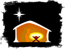 Born in a Manger Royalty Free Stock Images