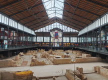 Born Market interior in the old town of Barcelona Royalty Free Stock Images