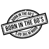 Born In The 60`S rubber stamp. Grunge design with dust scratches. Effects can be easily removed for a clean, crisp look. Color is easily changed Stock Photos