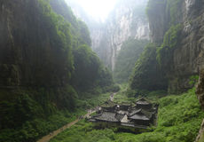 Born three Qiao. Zhang Yimou is the director of the movie Curse of the Golden Flower location, Chongqing Wulong County, was born in three Qiao. Is the world's Royalty Free Stock Photo