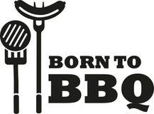 Born to bbq. Sausage vector Stock Image