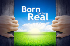 Born to be real Royalty Free Stock Image