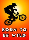 Born to be wild. And to have a life full of adventures royalty free illustration