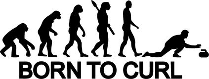 Born to Curl Evolution. Curling Stock Image