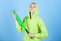 Born to fight. Street life. Sporty girl fighter. aggressive woman with bat. woman workout with baseball bat. Fighting. With aggression. Sport equipment royalty free stock photo