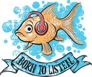 Born to listen goldfish Stock Photo