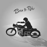 Born to ride biker Royalty Free Stock Image