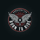 Born to Ride typographic. Design for t-shirt print. Global flat colors. Layered vector illustration Stock Images