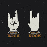 Born to rock vintage poster. Vector illustration. Stock Images