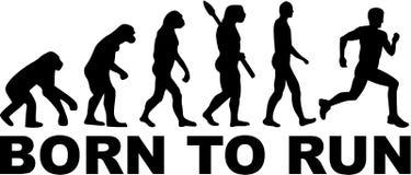 Born to run Evolution. Vector Royalty Free Stock Photo