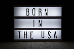 Born in the USA Stock Image