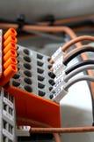 Borne électrique de câble Photo stock