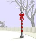 Borne da lâmpada do Natal ilustração do vetor