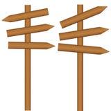 Borne de sinal de madeira ilustração do vetor