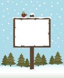 Borne de sinal do inverno ilustração do vetor