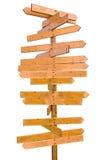 Borne de sinal em branco de madeira Imagens de Stock Royalty Free