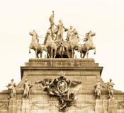 Borne limite de Bruxelles Photo libre de droits