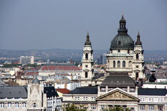 Borne limite de Budapest - basilique Photos stock