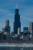 Borne limite de Chicago Image libre de droits
