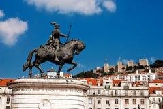 Borne limite de Lisbonne Images libres de droits