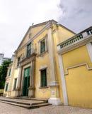 Borne limite de Macao - église de rue Augustine Images stock