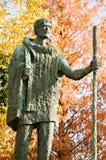 Borne limite de Philadelphie - la statue de Journeyer Image libre de droits