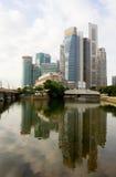 Borne limite de Singapour images libres de droits
