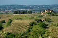 Borne limite de Toscane Photos stock