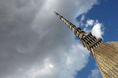 Borne limite de Turin - mole de La photographie stock libre de droits