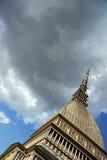 Borne limite de Turin - taupe Antoneliana photographie stock