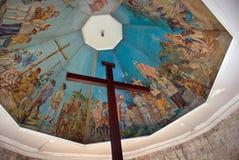 Borne limite historique de Cebu : La croix de Magellan Image libre de droits