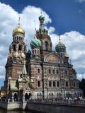 Borne limite russe célèbre - cathédrale orthodoxe images libres de droits