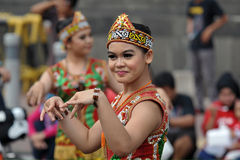Borneo dayak dance Stock Photo