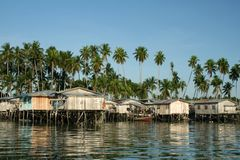 Borneo fishing village mabul island sabah borneo Royalty Free Stock Images