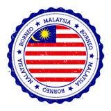 Borneo flag badge. Stock Images