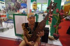 Borneo traditionell musik Arkivbilder