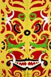 Borneo tradycyjni plemienni ornamenty Zdjęcia Stock