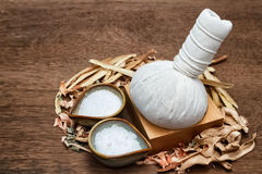 Borneol camphor,liquorice,ginger with lemon grass. Use for Thai herbal compress ball royalty free stock images