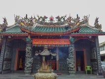 Borneor Kuching Malaysia 2013 kinesiska tempel arkivbild