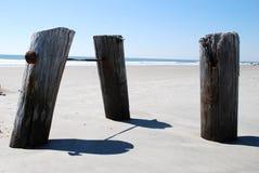 Bornes da praia Foto de Stock Royalty Free