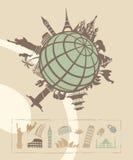 Bornes limites autour du monde Image libre de droits