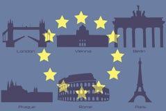 Bornes limites européennes illustration de vecteur