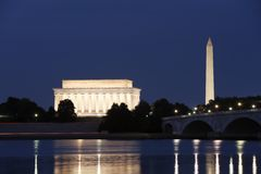 bornes limites Washington de C.C Image stock