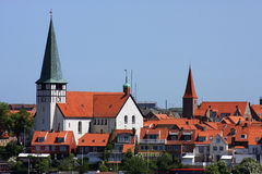 bornholm Δανία λιμένας νησιών ronne Στοκ εικόνες με δικαίωμα ελεύθερης χρήσης