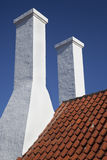 bornholm chimniesdenmark smokehouse arkivfoton