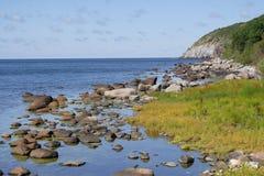Bornholm coast. North-west coast of Bornholm royalty free stock photos