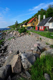 Bornholm island landscape. With old houses on the seaside, Denmark, Europe stock photos
